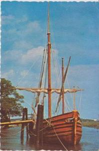 Tricentennial Replica of 17th Century Trading Ketch Moored at Charles Towne L...