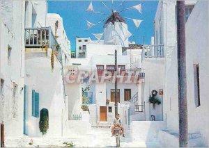 Modern Postcard Mykonos picturesque alley