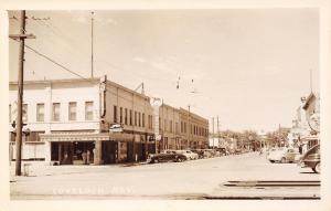 Lovelock NV Big Meadow Hotel,Club & Cafe~Greyhound Bus Station~1940s Cars RPPC