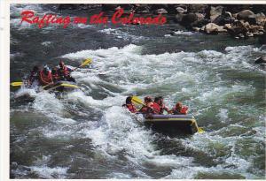 Colorado Rafting In South Canyon Of Colorado River Below Glenwood Springs