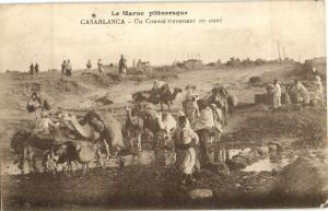 CPA Maroc Casablanca Un Convoi traversant (23691)