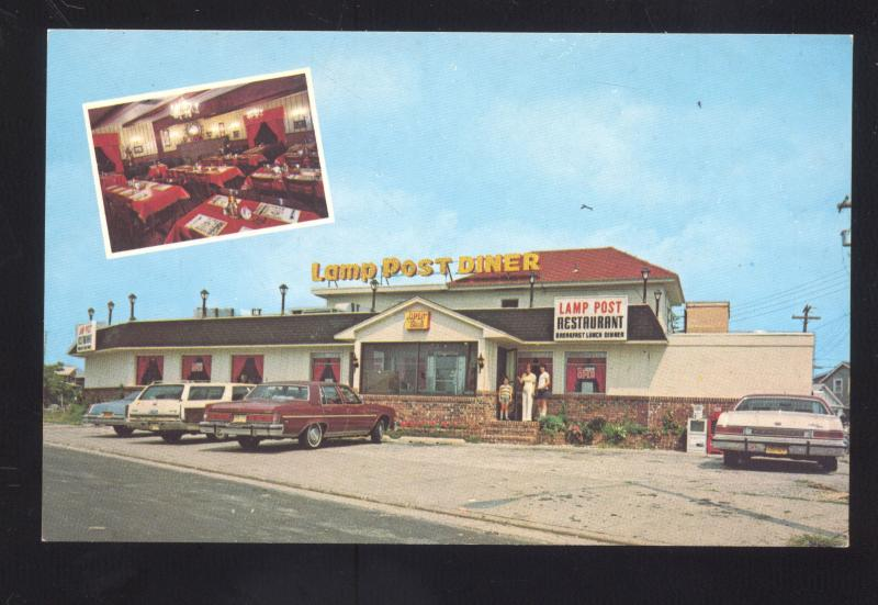 NORTH WILDWOOD NEW JERSEY LAMP POST DINER OLD CARS ADVERTISING ...