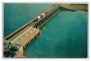 Vintage 1960's Postcard Aerial View of The Kentucky Dam Gilbertsville Kentucky