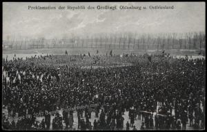 Germany 1918 Revolution in Oldenburg  RPPC 61398