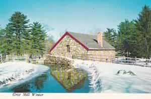 Masachusetts Sudbury Grist Mill In Winter Longfellow's Wayside Inn