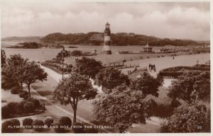 RP; Plymouth Sound & Hoe (LIGHTHOUSE) from the Citadel , England , 1936