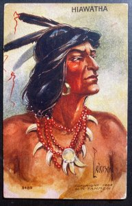 Mint USA Color Picture Postcard Native American Indian Hiawatha