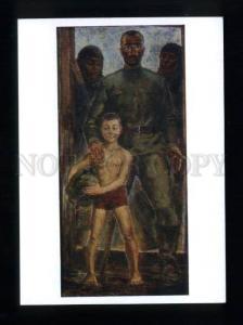 166025 After WAR Returning NUDE Boy by KIKNADZE old postcard