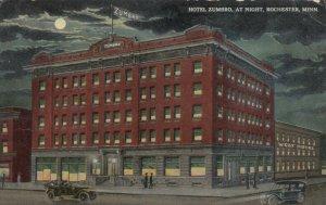 ROCHESTER, Minnesota, 1914; Hotel Zumbro at Night