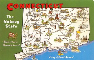 Maps Connecticut USA Unused