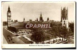Old Postcard London Parliament Square London