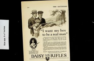 1926  Daisy Air Rifles Boy Real Man Vintage Print Ad 4501