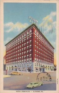 Pennsylvania Altoona Hotel Penn Alto 1938