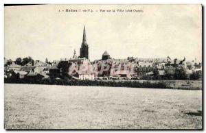 Redon Postcard Old Town View