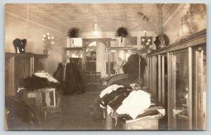 Rochelle IL~Inside Clothing Store~Grieve & Walker~Tureman~Spring Sale~RPPC c1910