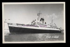 f1608 - French CGT Ferry - Ville D'Oran - postcard
