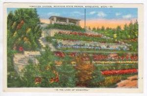 Terraced Garden, Michigan State Prison, Marquette,MI, PU 1949