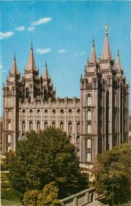 Mormon Temple Salt Lake City Utah UT Temple Square Postcard