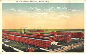 Detroit MI Maxwell - Chalmers Motor Co. in 1920 Postcard