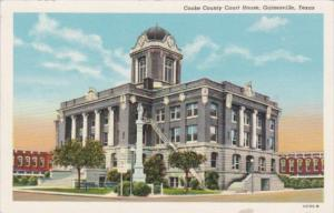 Texas Gainesville Cooke County Court House Curteich