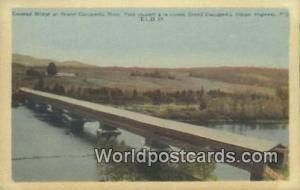 Gaspe Highway, PQ Canada, du Canada Covered Bridge, Grand Cascapedia River  C...