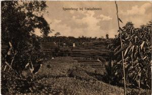 CPA Spoorbrug bij SOEKABOEMI INDONESIA (566147)