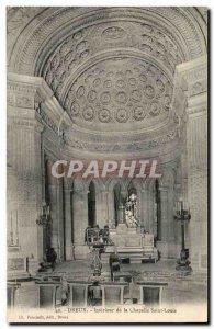 Postcard Dreux Old Church Interior of St Louis chapel