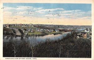Fort Dodge Iowa Birdseye View Of City Antique Postcard K56404