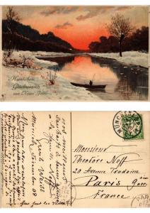 CPA Winterabend Meissner & Buch Litho Serie 1536 (730415)