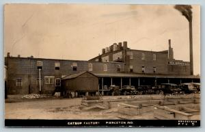 Pierceton IN Reid, Murdoch & Co~Catsup Factory~Smokestack~Bregstone RPPC c1910