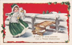 Novelty Easel type Christmas postcard , PU-1916