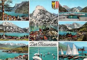 Der Traunsee multiviews Gmunden Edensee Traunkirchen Schloss Lake Swan Birds
