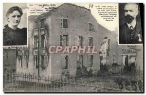 Old Postcard Militaria The house of Mr. Benoit after the & # 39invasion
