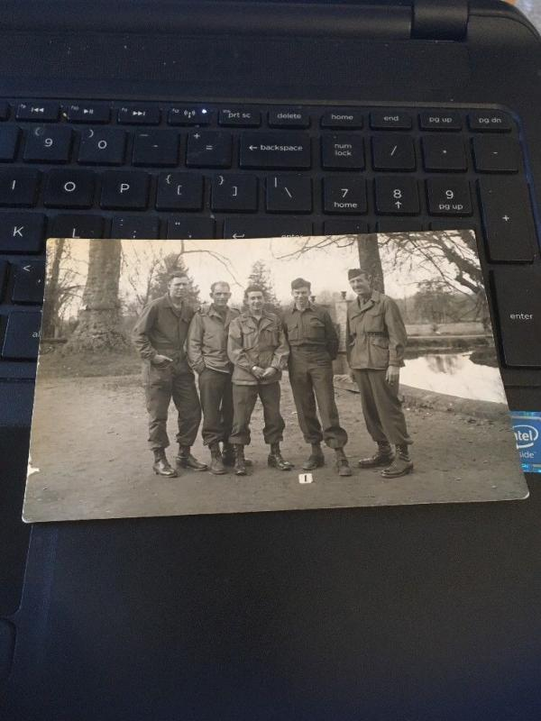 Vintage Postcard: US Military Soldiers in France