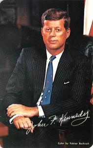 Post Card Old Vintage Antique President John F Kennedy Unused