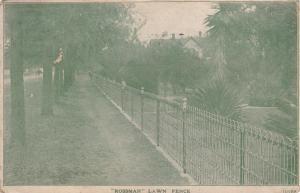Rossman Lawn Fence, PU-1908, NEW YORK CITY, New York