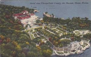 Florida Miami Aerial View Vizaya-Dade County And Art Museum