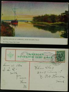 Battleground at Chippewa near Niagara falls pmk 1905