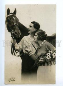 148523 Lovers near HORSE Vintage LEO PHOTO PC