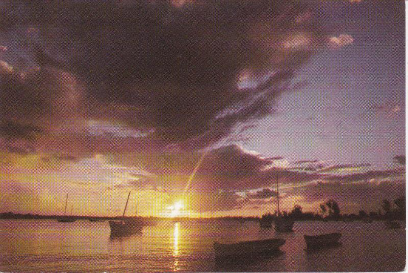 Sunset at Grand Baie , MAURITIUS , 50-70s