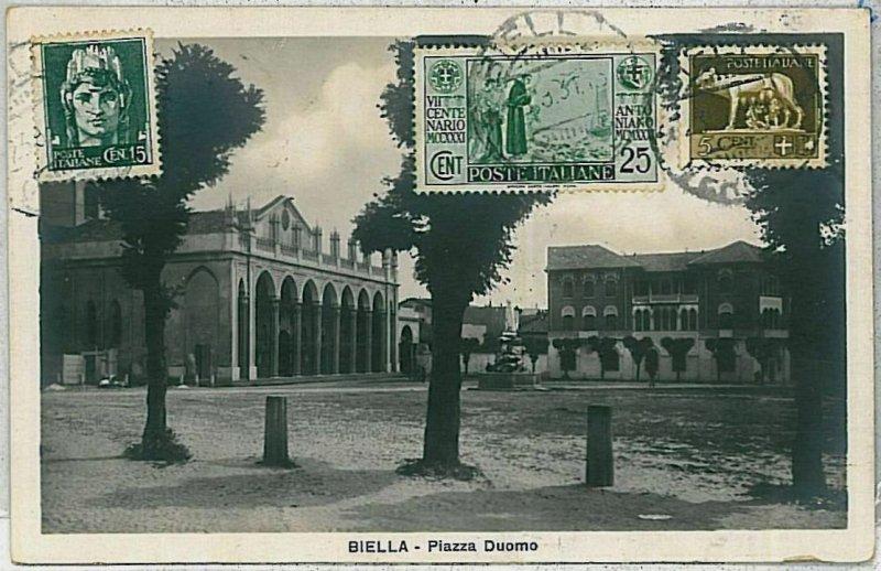 38580   CARTOLINA d'Epoca BIELLA Citta'  - PIAZZA DUOMO 1931