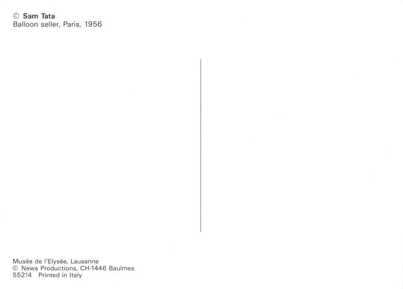 Postcard Ballon Seller, Paris, France by Sam Tata #55214