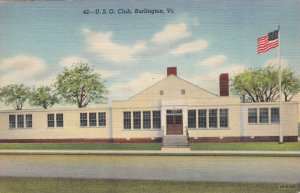 Vermont Burlington U S O Club Curteich sk573