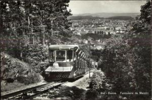 Biel-Bienne Australia Funiculaire Incline RR Real Photo Postcard