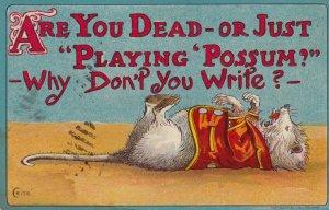 Political ; 1912 ; USA ,Are You Dead?, Possum (Taft)  ; Artist CRITE