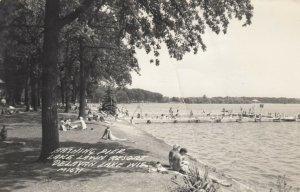 RP; DELAVAN LAKE , Wisconsin, 1930-40s ; Bathing Pier, Lake Lawn Resort