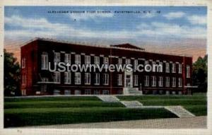 Alexander Graham High School Fayetteville NC 1937