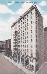 Ohio Cincinnati Hotel Fountain Square Albertype