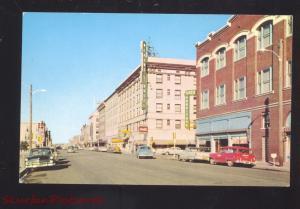 CHEYENNE WYOMING DOWNTOWN SIXTEENTH STREET SCENE 1950's CARS VINTAGE POSTCARD
