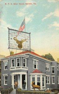 LP89 Norfolk Virginia Postcard B P. O. Elks Home